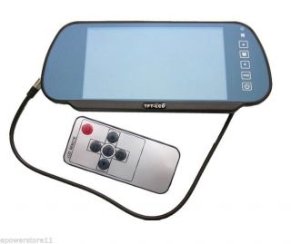 """7"""" Car Rear View Monitor Mirror Touch Screen 2 Video Input for DVD VCR Camera"""