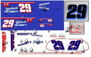 Early 29 Doug Wolfgang Weikerts Sprint Car Decals 1 25th Scale Custom Made