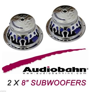 "2X New Audiobahn AW831T 8"" Natural Sound Car Subwoofers Pair Lot 800 Watts Max"