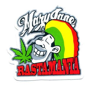 Bob Marley Mary Jane Rasta Cannabis Guitar Funny Bumper Car Decals Sticker K96