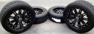 "20"" Black Wheels Tires Dodge Truck RAM 1500 20x9 Gloss Black 20 inch Rims"