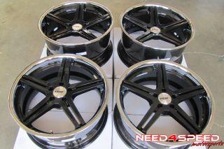 "20"" Mercedes Benz W212 E350 E550 Sedan TSW Mirabeau Black Staggered Wheels Rims"