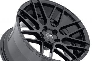 "19"" Ground Force GF07 Black Concave Rims Wheels Fits Infiniti G35 Coupe"