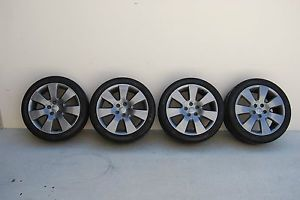 "18"" Audi Wheels in Gunmetal with Bridgestone Potenza 245 45 18 RE760 Sport Tires"
