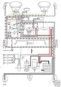 Volkswagen Wiring Diagram 1960 Beetle VW SHIP Free Fast