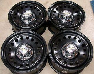 "Chevy Silverado Suburban Tahoe Avalanche GMC Sierra Yukon 17"" Black Wheels Rims"