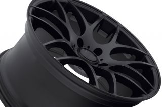 """19"""" Eurotek UO2 Matte Black Staggered Rims Wheels Fits BMW E92 328 335 Coupe"""