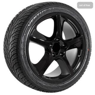 "20"" inch Porsche Cayenne s GTS Techno Gloss Black Wheels Rims and Tires"