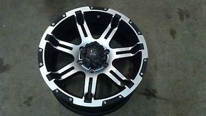 "18"" Granite Alloy GA11 Vrock Overdrive Black Machined Wheel 18x9 6x5 5 30mm"