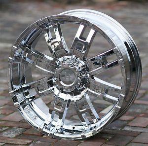 20 inch Chrome Wheels Helo 835 Chevy GMC Dodge 1500 Trucks 6 Lug 6x5 5