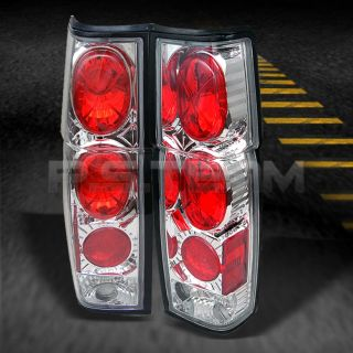 86 97 Nissan Hardbody D21 Pickup Truck Chrome Tail Brake Lights Lamps Left Right
