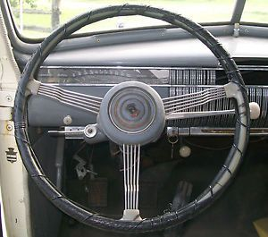 1940 Cadillac LaSalle Banjo Steering Wheel and Horn Button Hot Rod Rat Rod
