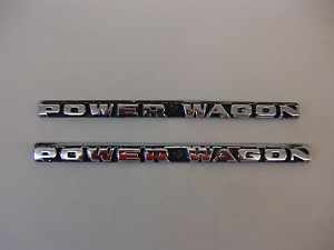 Mopar 1970's Dodge Truck Chrome Hood Power Wagon Trim Molding Pair Chrome
