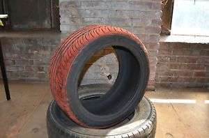1 New 255 40 17 Kumho Ecsta SPT Colored Red Smoke Tire