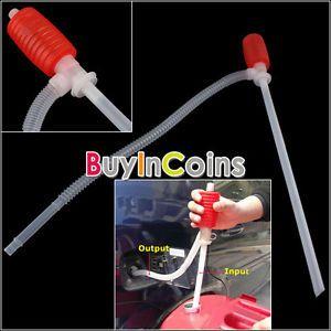 Manual Car Siphon Hose Gas Oil Water Liquid Transfer Hand Pump Sucker Portable