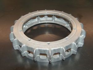 RARE Vintage Sprint Car Halibrand Rear Brake Hat Finned Rotor Cooling Ring