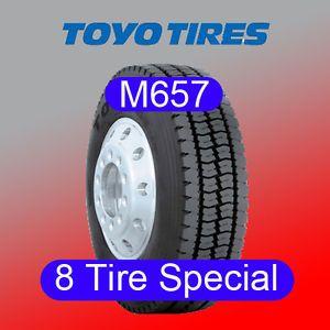 8 Tires Toyo Tires M657 295 75R22 5 Semi Truck Tires