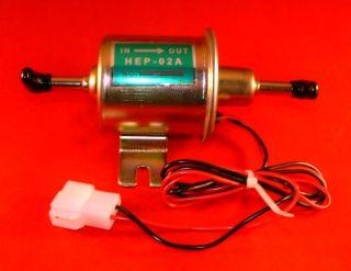 Electric Fuel Pump Universal 12V Hep 02 3 to 5 PSI 18 5 GPH