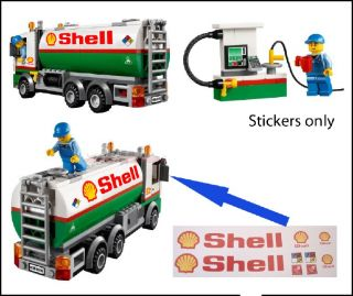 Lego City Tank Truck 3180 60016 Custom Shell Stickers 7939 554 671