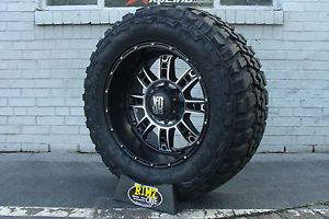 "20"" XD Riot 809 Wheels Federal Couragia MT Tires 35x12 50R20 35"" Mud Tires"