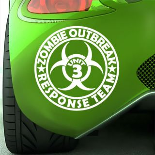 Zombie Response Team Zombieland Logo Car Decal Sticker