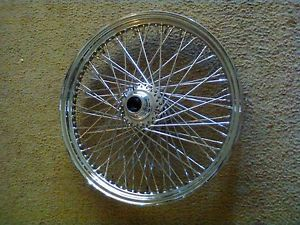 """HD Harley Davidson 21"""" 80 Spoke Chrome Front Wheel"""