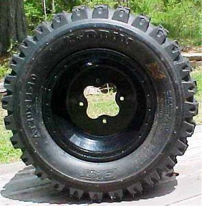 ATV Rear Wheel Tire 10x8 ITP T 9 Baja Black Wheel and 20x11x10 AMS bkt x Driv