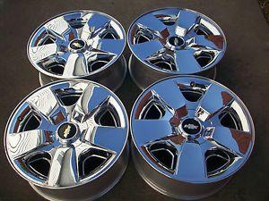 "20"" Chevy Silverado Tahoe Avalanch 1500 Factory Chrome Clad Wheels Rims"