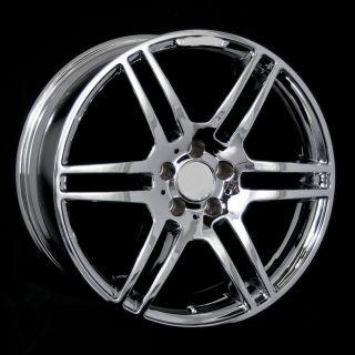 "19"" AMG Style Chrome Wheels Rims Fit Mercedes s Class W220 W221 2000 2006 2007"