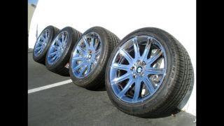"""Chrome 19"""" BMW 750LI Factory Wheels Rims Tires 745LI E65 E66 750 Original"""