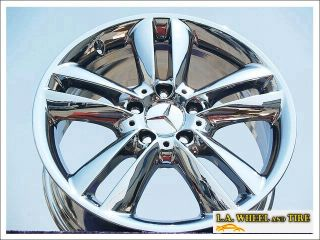 "Set of 4 New 17"" Mercedes Benz CLK350 Chrome Wheels Rims 65388 Exchange"