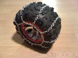 RC Snow and Ice Tire Chains Traxxas Summit