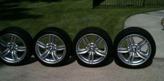 "BMW 5 Series Factory 19"" Wheels Tires Rims 351M Double Spoke Dunlop Perfomance"
