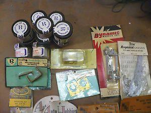Vintage Slot Car Parts Accessories Frames Chassis Tires MDC Russ Tiger Monogram