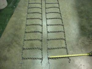 Garden Tractor Snow Blower ATV 4 Link Tire Chains
