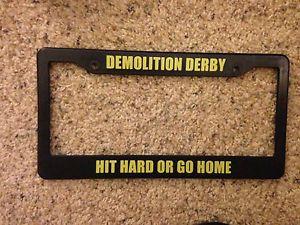 Demolition Derby License Plate Frame