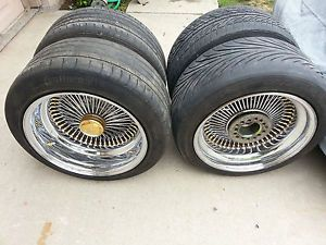 "Dayton 17"" Deep Dish Wire Rims Roadster Wheels for Lowrider Custom Cruiser"