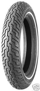 dunlop mt90b16 white wall tire harley d402 front flht