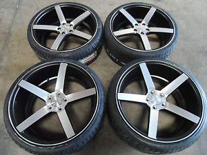 "20"" Original Vossen CV3 Concave Machined Black Wheels Hankook Tires 5x112 Rims"