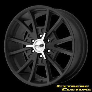 20 x8 5 American Racing VN803 El Rey Satin Black 6 Lug Wheels Rims Free Lugs