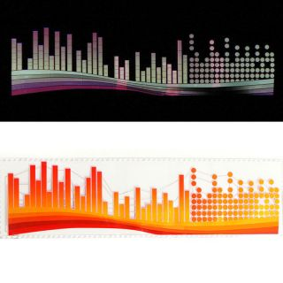 90x25cm Car Sticker Music Rhythm LED Flash Light Sound Activated Equalizer PVC