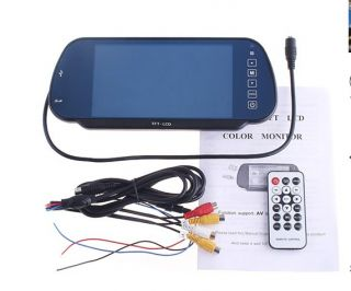 """7"""" TFT Touch Screen LCD Color Car Rear View Rearview Mirror Monitor MP5 Player"""