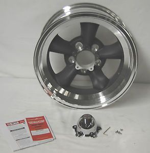 "American Racing Vintage Torq Thrust D VN105 Gray Wheel 15x7"" 5x4 5"" Y"