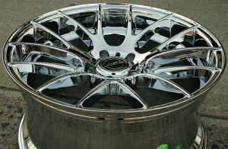 "ASA GT5 20"" Chrome Rims Wheels Range Rover 4 6SE 95 02 20 x 10 5H 32"