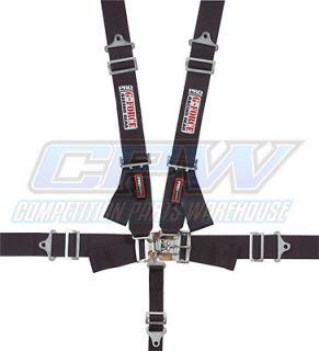 G Force Black Pro Series 5 Point Shoulder Harness Racing Seat Belts SFI 16 1