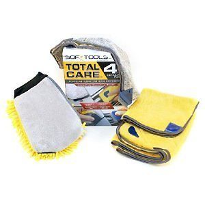 Total Car Care 4 PC Detailing Pack Wash Mitt Drying Polishing Auto Truck Towel