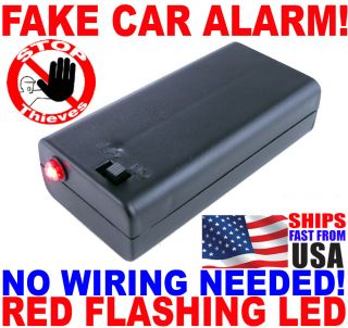 Flashing Red LED Light Fake Boat Car RV Dummy Alarm No Wiring on Off Switch FLB