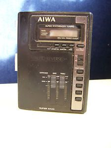 Aiwa HS T50 Portable Cassette Player Am FM Radio Vintage Walkman Auto Reverse