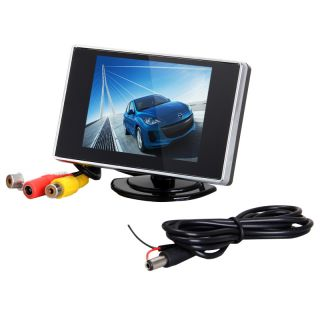 """3 5"""" inch Color TFT LCD Car Mirror Monitor for Rear View Reverse Backup Camera"""