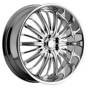 "20"" Akuza 761 Belle 5x4 5 Acura NSX RSX Chrome Wheels Rims Free Lugs"